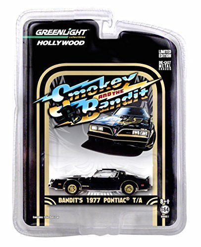 BANDIT'S 1977 PONTIAC TRANS AM from the classic film SMOKEY AND THE BANDIT * Hollywood Greatest Hits * 2015 Greenlight Collectibles 1:64 Scale Limited Edition Die-Cast Vehicle by Greenlight Collectibles