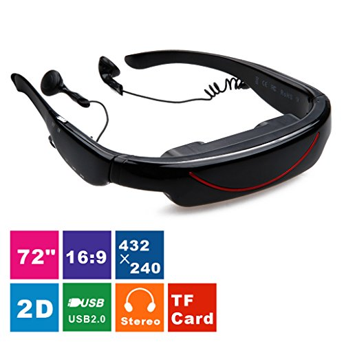 Cheapest Price! Excelvan 2015 HOT 72 Inch Virtual Digital Portable Video Glasses Personal Theater Wi...