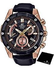 【セット】[カシオ]CASIO エディフィス EDIFICE 100m防水 ブラック クロノグラフ EFR-559BGL-1A メンズ 腕時計&ROOSTER マイクロファイバークロス 15×15cm付き [並行輸入品]