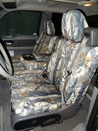 Durafit Seat Covers, F369-XD3-C, 2004-2008 Ford F150 Xcab, Front 40/20/40, Seat Belts Come from top of seat, NOT for Double CAB, XD3 Camo Waterproof Endura Fabric
