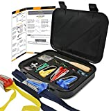 Bias Tape Maker Kit – DIY Sewing Bias Tape Maker Kit for Beginners – Complete Fabric Bias Tape Maker Kit with Log Awl, Bordure, Craft Clips, and Pins – Bias Tape Maker for 6/12/18/25 mm Bordure Size