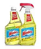 Windex Disinfectant Cleaner - Multisurface Spray Bundle, Includes a 23 fl oz Spray and a 32 fl oz Refill, Works on Kitchen and Bathroom Counters and More, Citrus Fresh Scent