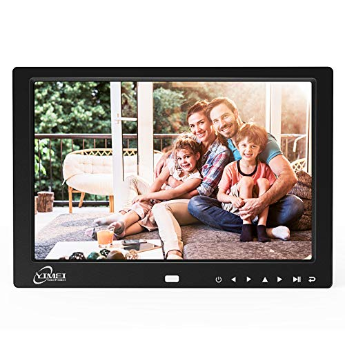 Digital Picture Frame with 10.1 Inch 1280x800 HD Display, Digital Photo Frame for Multimedia, Support Video/MP3/JPEG/TXT, Remote Control, USB/SD Card Digital Frames Picture