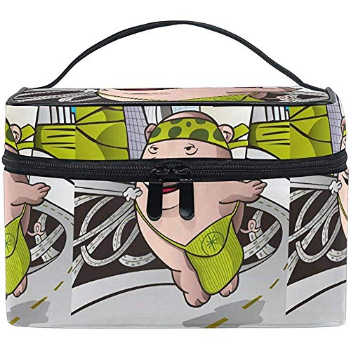 Bolsa de cosméticos Cool Joy Play Pig Bolsa de maquillaje para mujeres Cosmetic Bag Toiletry Train Case