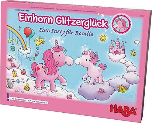 Haba 302767 Einhorn Glitzerglück - eine Party für Rosalie,  bezauberndes kooperatives Lauf- und...