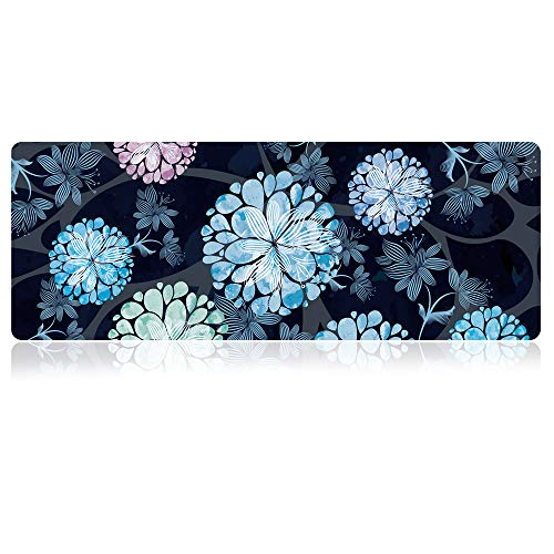 """SANFORIN Extra Large Mouse Pad - Floral Design Gaming or Desk Mousepad - 31.5"""" x 11.8""""x0.12''(3mm Thick)- XL Protective Keyboard Desk Mouse Mat for Computer/Laptop-Dandelion"""