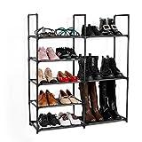 Jakpas 5-Tier Shoe Rack Storage Organizer Non-woven Shoe Shelf Boots Organizer