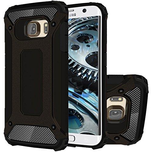 HICASER Galaxy S6 Edge+ Custodia, Dual Layer Ibrida Rigida Morbido Armatura Resistente agli Urti Case Ibrida TPU +PC Bumper Frame Protettiva Custodia per Samsung Galaxy S6 Edge Plus Nero