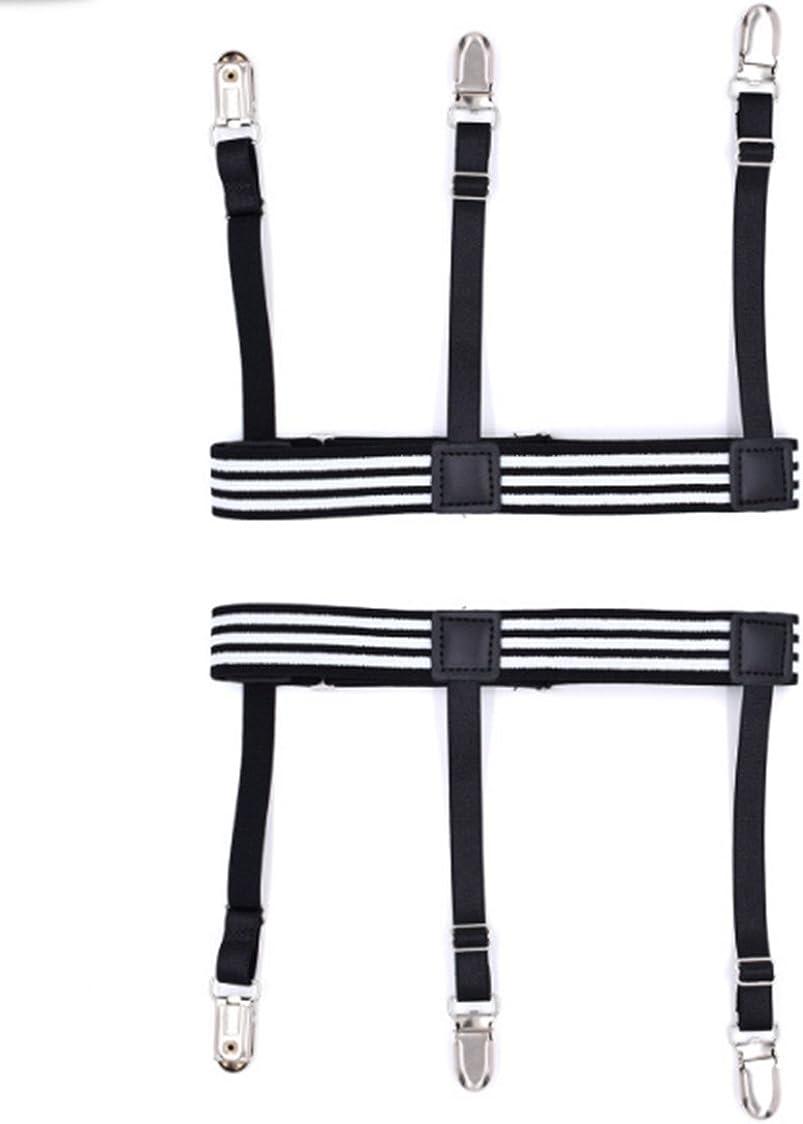 YUNEE Men's Shirt Clips Elastic Width 2.5X52CM Brace Fashion One Pair