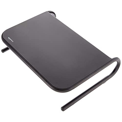AmazonBasics Metal Laptop Computer Monitor Riser Stand - Black