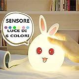 missjj Luce Notte Bambini,Luce Notturna Bambini,Luce Notturna,con sensore di Movimento per Bambini Luce USB Ricaricabile Ideale per Regalo di Compleanno da Camera da Letto