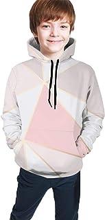 Style Rose Gold Marble Kids/Teen Girls' Boys' Hoodie,3D Print Pullover Sweatshirts