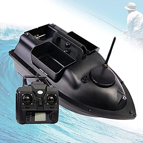 WXFCAS Barco de pesca de posicionamiento de GPS, barco de cebo de carpa de 500m RC, barco de cebo de control de crucero, carga de cebo de 2 kg, luz de vela de noche, luz de vela de alta velocidad, pan