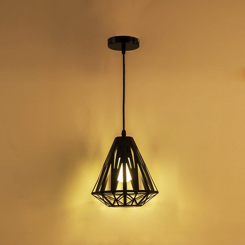 TMY Moderner kreativer Metallleuchter, hngende Deckenleuchte-Lampe für Stab-Gang-Restaurant-Mode, hngende Lichter der Kunst-hngende E27 Kronleuchter (Farbe   schwarz-20  23CM)