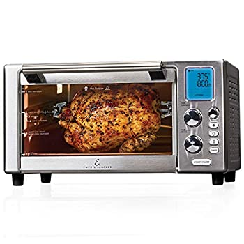 """Emeril Everyday 360 Deluxe Air Fryer Oven 15.1"""" x 19.3"""" x 10.4"""" with Accessory Pack Silver"""
