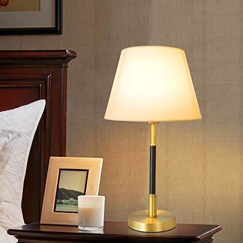 ZRWZZ Lámpara De Mesa Retro Simple, Lámpara De Mesa De Noche De Dormitorio, Lámpara De Tela, Lámpara Sala De Estudio Sala De Estar Comedor, Lámpara De Decoración del Hogar
