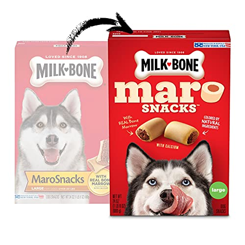 Milk-Bone MaroSnacks with Real Bone Marrow Dog Treats - Large - 58 Ounces...