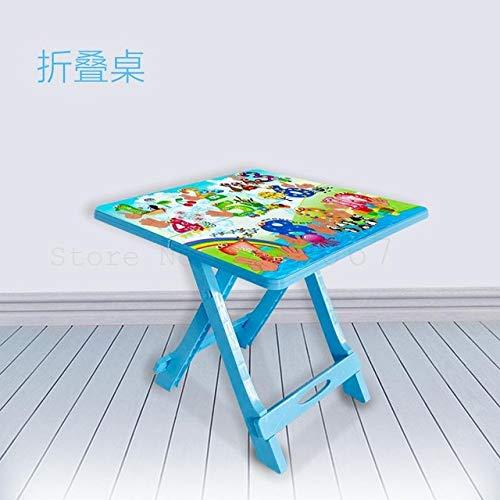 RFGHATG Kindermeubilair Set Thuis Eettafel Baby Speelgoed Leren Draagbare Vouwtafel Kleine Stoel