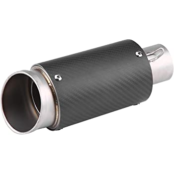 RENCALO Tuyau Universel de Silencieux d/échappement de Moto de Style Carbone 61mm