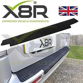 MARCHFA Car Bumper Protector Rubber Rear Bumper Guard Rear Bumper Cover Black Compatible for Leon 90CM