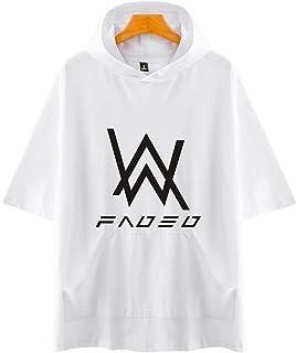 Pandolah メンズ スポーツウェア Tシャツ 半袖 パーカー プルオーバー Alan Walker アラン・ウォーカー Faded 夏服
