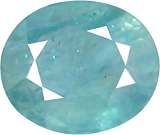 Deluxe Gems 0.57 ct Oval Cut (6 x 5 mm) Unheated/Untreated Greenish Blue Grandidierite Natural Gemstone