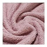 Stoff am Stück Stoff Baumwolle Plüsch Teddy rosa Webpelz