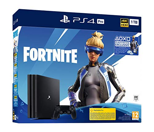 HYWEELL PlayStation 4 Pro 1TB Euro Version+ Fortnite Deluxe Bundle , Marvel spider-man game of the year US Edition, US Adapter PlayStation 4 Consoles, Games & Accessories PC & Video Games