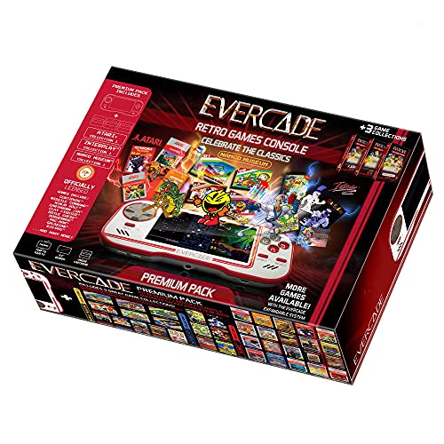 Evercade Premium Pack - Consola portátil con cartuchos retro multijuego