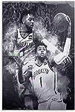ZRRTTG Lienzo Pintura Al óLeo Regalo de Baloncesto D'Angelo Russell para Novio Poster Y Estampados Arte Cuadros 23.6'x35.4'(60x90cm) Sin Marco