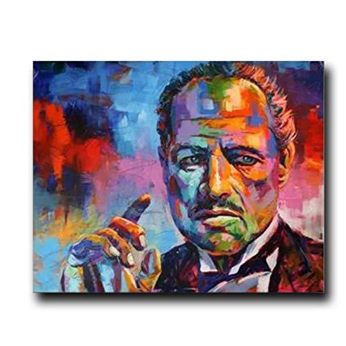 Yxjj1 Carteles e impresiones de películas, retrato colorido, lienzo, pintura de pared, imagen artística para sala de estar, decoración del hogar, 20x30 pulgadas, sin marco
