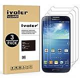ivoler [3 Unidades] Protector de Pantalla Compatible con Samsung Galaxy S4, Cristal Vidrio Templado Premium [Dureza 9H] [Anti-Arañazos] [Sin Burbujas]