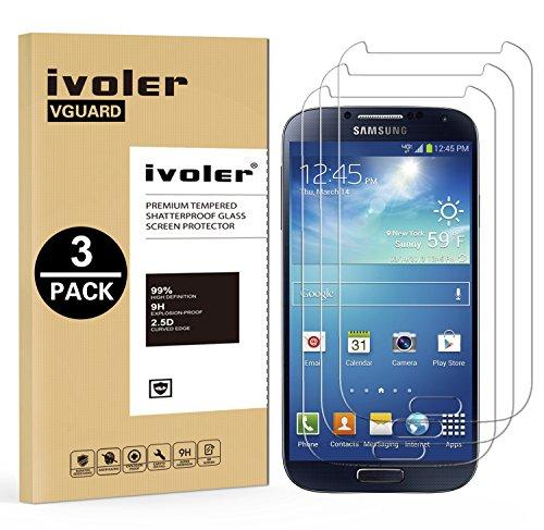 ivoler [3 Pack] Vetro Temperato Compatibile con Samsung Galaxy S4 [Garanzia a Vita], Pellicola Protettiva, Protezione per Schermo