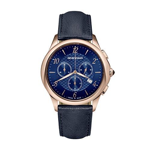 Emporio Armani - Reloj de Cuarzo de Cuero para Hombre ARS8701