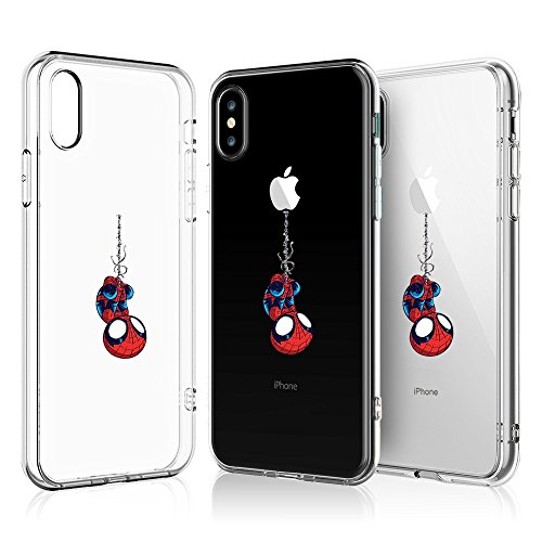 Litech Case for Apple iPhone X (2017) / iPhone Xs (2018) [Flexfit] Comic Super Hero Inspired Series [Premium Scratch-Resistant] (Spider Man)