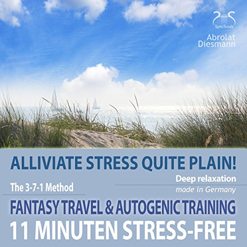 11 Minutes stress-free: Alliviate stress quite plain! Fantasy travel and autogenic training audiobook cover art