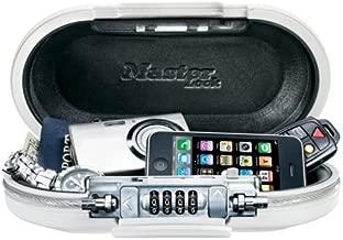 Master Lock 5900EURDWHT Portable Personal Safe White Portable Combination Lock Box, White