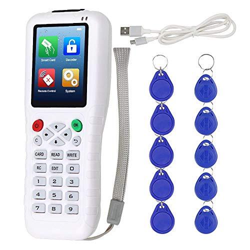 KDL RFID Duplikator 13,56 IC/ID-Kartenleser, Cloner, 125 kHz, Programmierer, Kopierer, Multifrequenz, T5577 UID, wiederbeschreibbar, Schlüsselanhänger USB