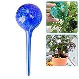 OFOCASE 5 Pcs Plant Watering Globes, Automatic Glass Watering Bulbs, Decorative Garden Watering Glass Drip Ball (Dark Blue)