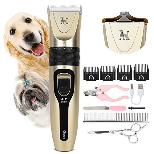 Wimypet Tosatrici Cani Professionale con 11 Accessori, Tosatrici per Cani Animali, Ricaricabile Tosatore Elettrico per Impermeabile Rumore Inferiore a 50 Db, 5 distanze di Taglio
