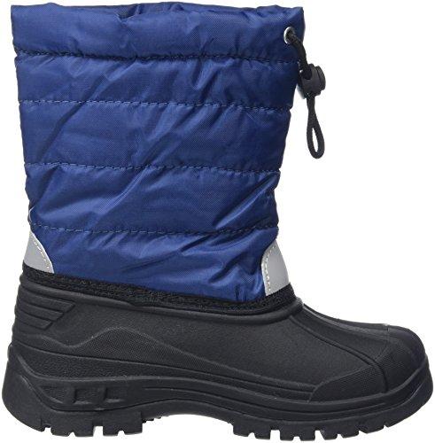Playshoes gefütterte Kinder Winterstiefel, warme Schneestiefel mit Innenfutter , Blau (11 marine) , 26/27 - 6