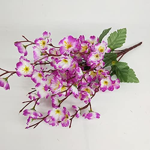 VIOYO Ramo de Flores de melocotónArtificialespara Dormitorio para decoración del hogar, Flor de imitación, Fiesta de Boda, Sala de Estar, Mesa, Flor de Seda Falsa