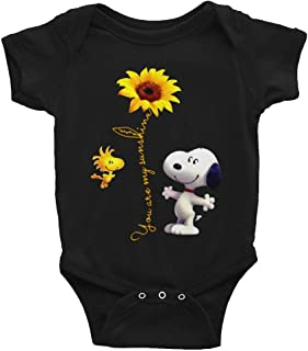 Eureka-Store You are My Sunshine Onesie-Cute Snoopy Shirt for Baby Kid-Snoopy Infant Bodysuit