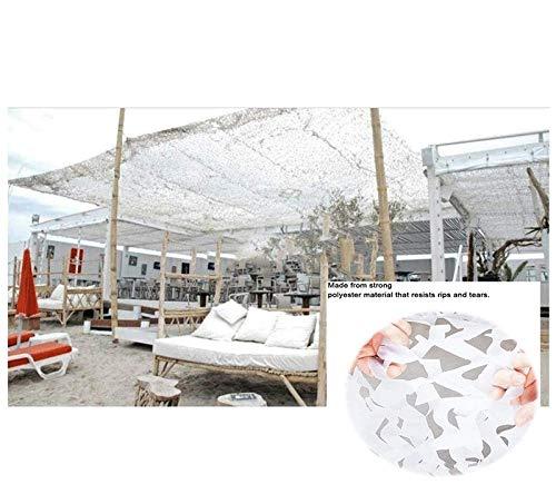 Lww Weißes Tarnnetz, Balkon Gartendekoration Schatten Markise Markisenterrasse Sonnenschutz Pergola Zelt Carport Sonnenmarkise Segeltuchnetz 3x5m 6x8m (Size : 3 * 4m (10 * 13ft))
