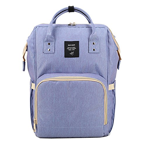 BigForest Mummy Sacs ¨¤ Dos ¨¤ Langer pour B¨¦b¨¦ Sac Travel Bag Multifunction Baby Diaper Nappy Changing Light blue sac ¨¤ main tote bag