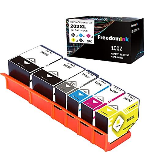 6 FreedomInk 202XL Druckerpatronen Kompatibel Ersatz für Epson 202 XL Kompatibel mit Epson Expression Premium XP-6000 XP-6005 XP-6100 XP-6105 (2 Schwarz,1 Foto Schwarz, 1...