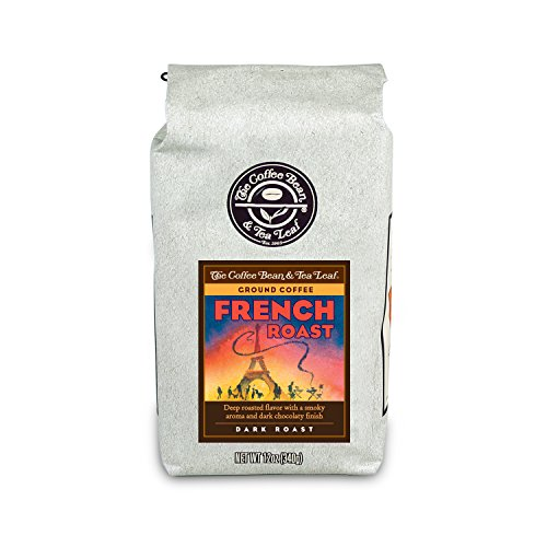 The Coffee Bean & Tea Leaf, Hand-Roasted French Roast Ground Coffee, 12-Ounce Bags (Pack of 2)