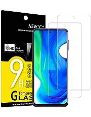 NEW'C 2-Stuks, Screen Protector voor Xiaomi Poco M2 Pro, Poco X3 NFC, Gehard Glass Schermbeschermer Film 0.33 mm ultra transparant, ultra resistent, Anti-kras, anti-vingerafdrukken