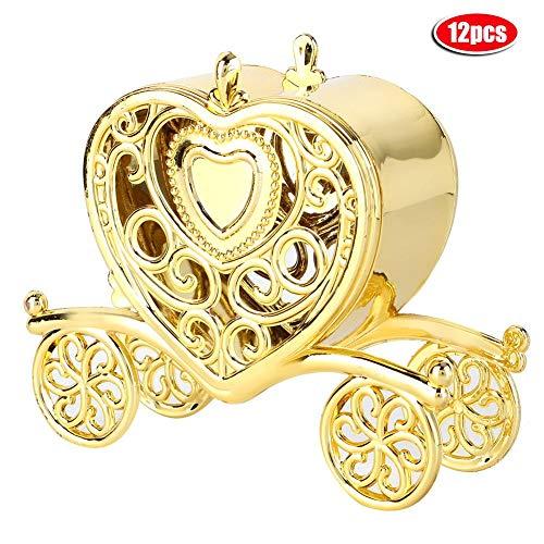 AUNMAS 12st romantische bonbonnendoosjes hartvormige huwelijksgeschenken box bankett party decoratieve opbergdoos