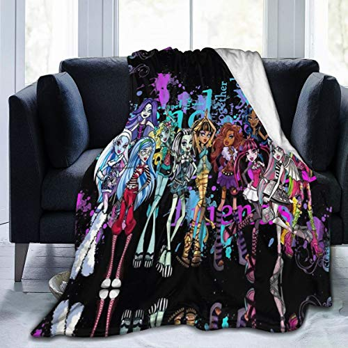 ZGHOME Monster Friends High Micro Fleece Blankets Throws Durable Ultra-Soft Quilt for Bedding Sofa Mens Gift 50'' x40 Black